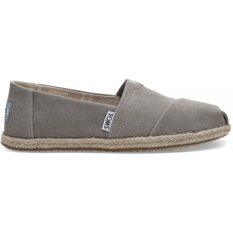buy online fad8b 34421 TOMS Classic Alpargata Drizzle Grey Washed Canvas Rope Sole Damen Schuhe,  (Drizzle Grey 020)