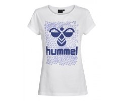 Hummel Womens Hexagon SS Tee, Weiß