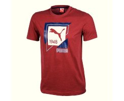 Puma Fun Shirt Casual Graphic Tee,Herren T-Shirt, Rot...