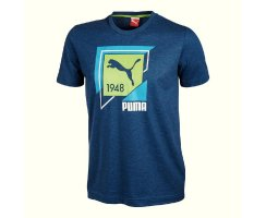 Puma Fun Shirt Casual Graphic Tee,Herren T-Shirt, Blau...