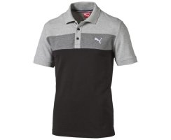 Puma Shirt Fun Big Block Pique, Herren Polo, Schwarz...