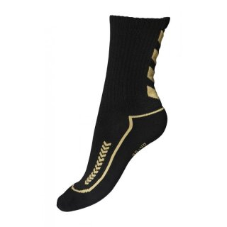 Hummel Advanced Indoor Sock Low, Unisex Socken, 21-058, Schwarz (Black/Gold 2128)