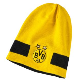 Puma BVB Performance Beanie, 21037, (Cyber Yellow-Puma Black 01)