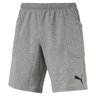 Puma Liga Casuals Shorts, 655605, Grau (Medium Gray Heather-Puma Black 33)