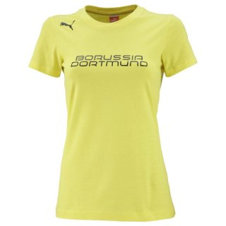 PUMA Damen BVB T Shirt Fan Tee, Blazing Yellow / Black, 743578 02